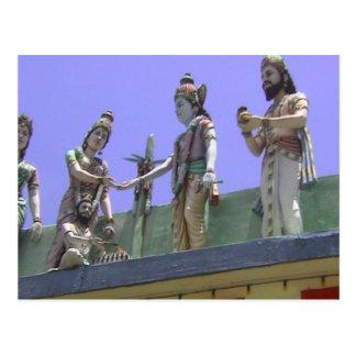 Templo hindú, figuras de la forma de vida tarjetas postales