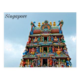 Templo hindú la poca India Singapur Tarjetas Postales