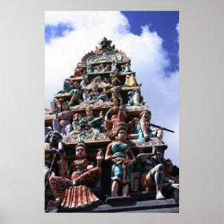 Templo hindú póster