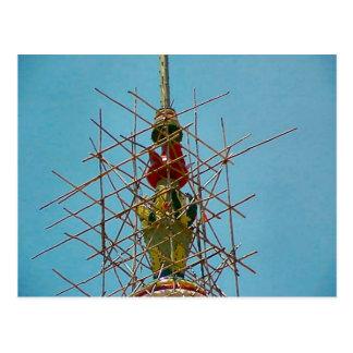 Templo hindú, reparaciones a la decoración tarjetas postales