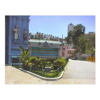 Templo hindú, trayectoria de la entrada postales