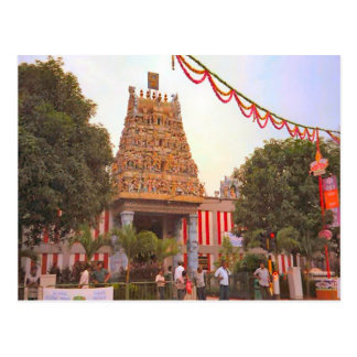Templo hindú, un día a celebrar tarjeta postal