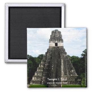 Templo I, Tikal, Guatemala Imán Cuadrado