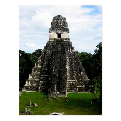 Templo I, Tikal, Guatemala Postal