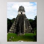 Templo I, Tikal, Guatemala Posters