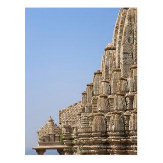 Templo Jain en el fuerte de Chittorgarh, la India Tarjetas Postales