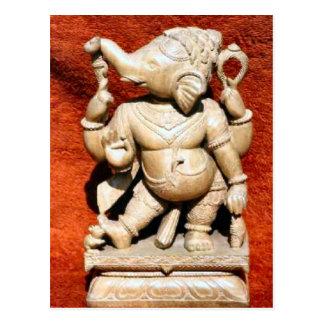Templo Jain, estatua de la India Tarjeta Postal