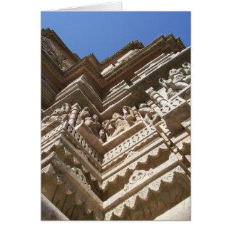 Templo Jain, la India Tarjeta