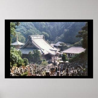 Templo japonés póster