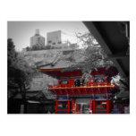 Templo japonés viejo postal