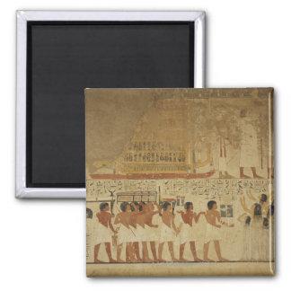 Templo Luxor, Egipto de Karnak Imán Cuadrado