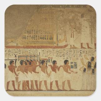 Templo Luxor, Egipto de Karnak Pegatina Cuadrada