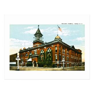 Templo masónico, Fargo, Dakota del Norte Tarjetas Postales