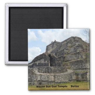 Templo maya de dios del sol, Belice Imán Cuadrado
