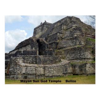 Templo maya de dios del sol Belice Postales