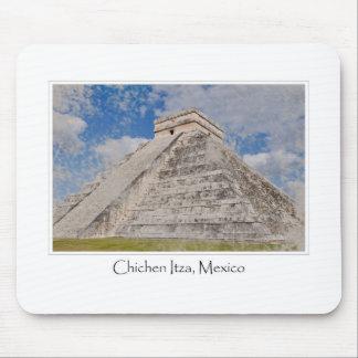 Templo maya de México Chichen Itza Alfombrilla De Ratones