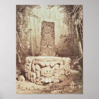 Templo maya, Honduras Póster