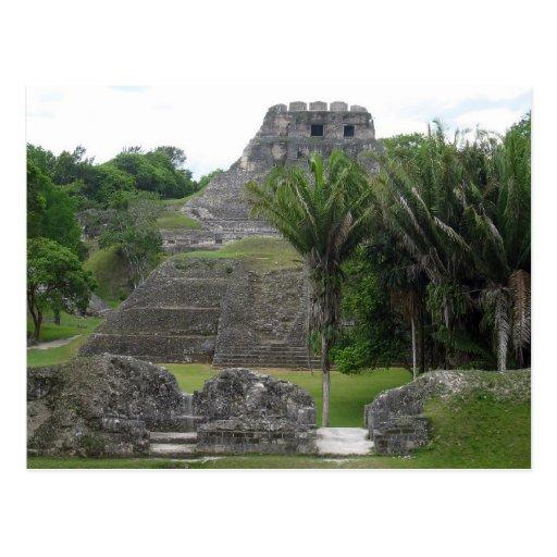 Templo maya postal