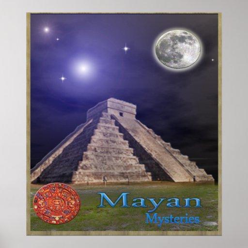 Templo maya póster