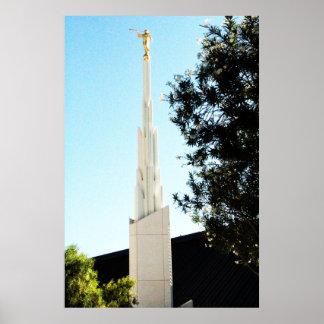 templo mormón de Las Vegas nanovoltio de los lds Póster