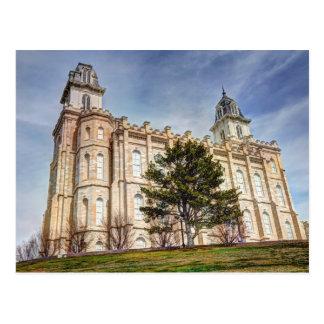 Templo mormón de Manti LDS Postal
