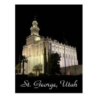 Templo mormón de San Jorge Utah Tarjetas Postales
