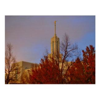 Templo mormón del Mt. Timpanogos LDS, Utah Postales