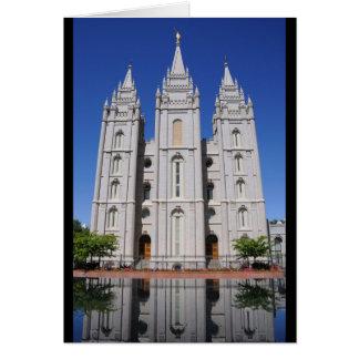 Templo mormón (LDS) en Salt Lake City, Utah Tarjeta De Felicitación