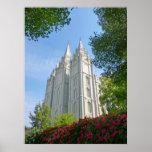 Templo mormón posters