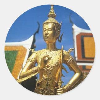 Templo real de Bangkok Tailandia Pegatina Redonda