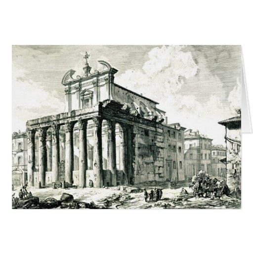 Templo romano 1748 felicitación