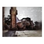 Templo romántico del vintage en Egipto Tarjeta Postal