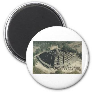Templo Screnary de Borobudur Imán Redondo 5 Cm