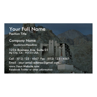 Templo sobre Royal Palace, Leh, Ladakh, la India Plantillas De Tarjetas Personales