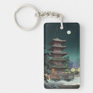 Templo Tsuchiya Koitsu de Asakusa Kinryuzan Llavero Rectangular Acrílico A Doble Cara