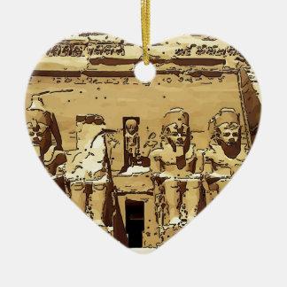 Templos de Abu Simbel del egipcio Ornamento Para Reyes Magos