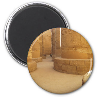 Templos de Karnak; Templo del Amon-Ra, jeroglífico Imán Redondo 5 Cm