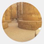 Templos de Karnak; Templo del Amon-Ra, jeroglífico Pegatina Redonda