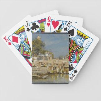 Templos de las semanas de Edwin y ghat del baño en Baraja Cartas De Poker