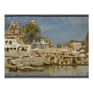 Templos de las semanas de Edwin y ghat del baño en Tarjeta Postal