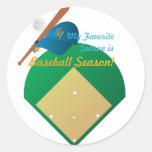 Temporada de béisbol etiqueta redonda
