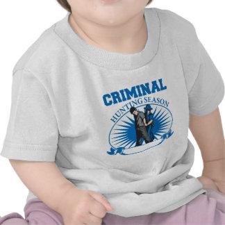 Temporada de caza criminal de encargo personalizad camiseta