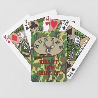 Temporada de caza del cazador de los ciervos barajas de cartas