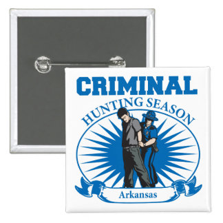Temporada de caza del criminal de Arkansas Pins