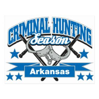 Temporada de caza del criminal de Arkansas Tarjetas Postales