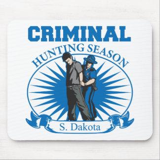 Temporada de caza del criminal de Dakota del Sur Tapetes De Ratón