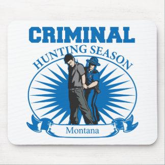Temporada de caza del criminal de Montana Alfombrilla De Ratones