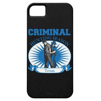 Temporada de caza del criminal de Tejas iPhone 5 Carcasas