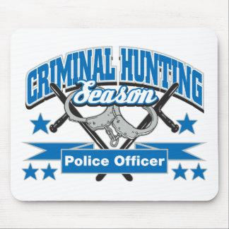 Temporada de caza del criminal del oficial de poli alfombrillas de ratón