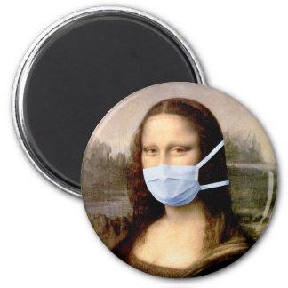 Temporada de gripe Mona Lisa con la máscara Imán Para Frigorifico